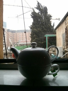 Rainy day and a pot of jasmine green tea