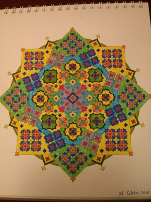 Mandalas of the week (and experiments for the Facebook post)