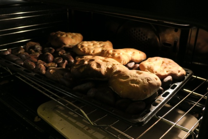 Bread in oven compressed